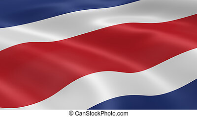Costa Rican flag in the wind Part of a series
