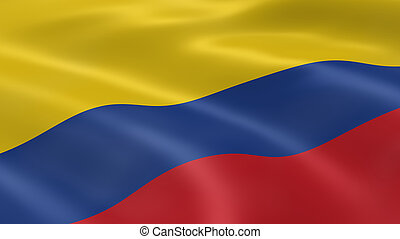 Colombian flag in the wind Part of a series