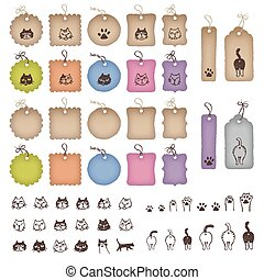 Product tags in various shapes