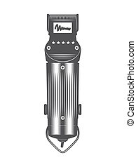Hair clipper vintage vector isolated on a white background
