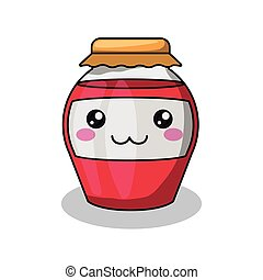 jam bottle character isolated icon design, vector...