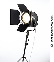 spotlight - studio spotlight with flaps open and light