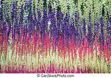 Floral background. Flower garlands colored wisteria. -...