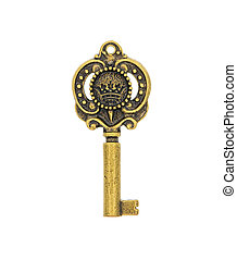 bronze pendant in the form of a key.
