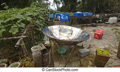 Spherical Mirror to Boil Water in House Yard in Vietnam -...