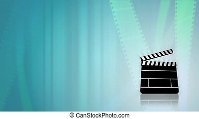 Film Reels HD Loop - Loopable animated background of a...