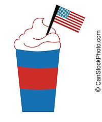 American Flag in Coffee
