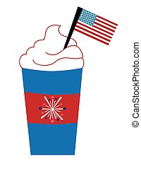 Red White and Blue Coffee