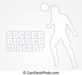 Soccer Football Player Concept Silhouette