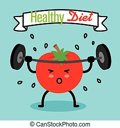 healthy diet tomato doing weights