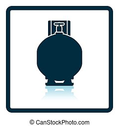 Gas cylinder icon Shadow reflection design Vector...