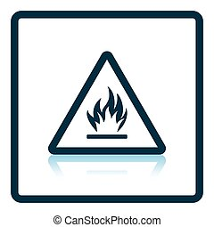 Flammable icon Shadow reflection design Vector illustration...