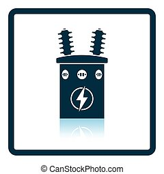Electric transformer icon Shadow reflection design Vector...