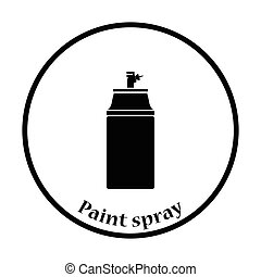 Paint spray icon Thin circle design Vector illustration