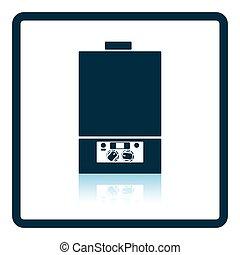 Gas boiler icon Shadow reflection design Vector illustration...