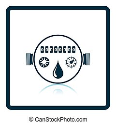 Water meter icon. Shadow reflection design. Vector...