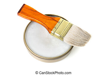 Mink Oil - mink oil and brush, used to care leather product