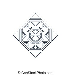Vector lineart ornament - Lineart arabic ornament. Vector...