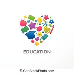 Education, learning, student and school icon