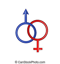 Sign man and woman icon, cartoon style - Sign man and woman...