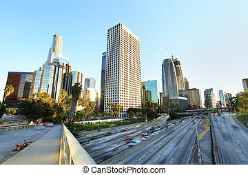 City of Los Angeles Downtown at Sunset