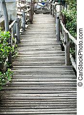 Wood bridge - Old Wood bridge, Vintage style