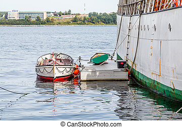 Small Boat at Ships Float in Halifax