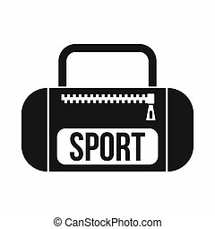 Sports bag icon, simple style - Sports bag icon in simple...