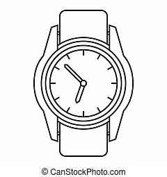Watch icon, outline style - Watch icon in outline style...
