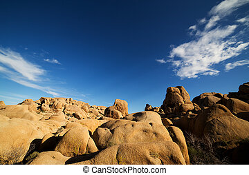 Rocks with Blue Sky in the Joshua Tree National Park, USA