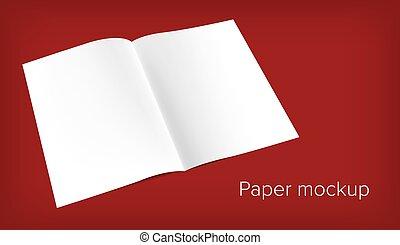 paper mock up