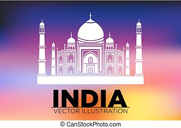 Taj Mahal, Agra, India vector - Taj Mahal Agra India vector...