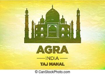 Taj Mahal India Seven Wonders Concept vector art