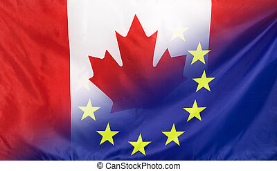 European Flag merged with Flag of Canada - Canada and...