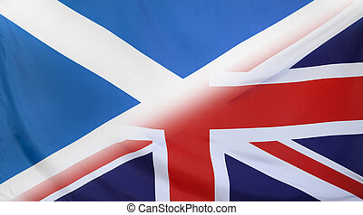 Great Britain and Scotland Flag merged - Scotland and Great...