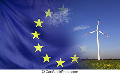 Concept Clean Energy in Europe - Concept clean energy with...