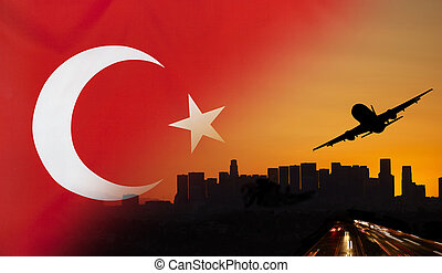 Turkey fabric Flag Travel and Transport Concept - Travel and...