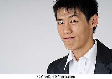 handsome business man - Young handsome business man portrait...