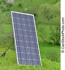 solar panel on meadow