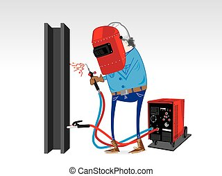 Welding Equipment cartoon