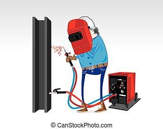 Welding Equipment cartoon