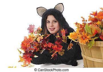 Happy Black Cat Teen