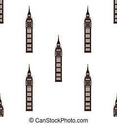 Big ben Londons, England, United Kingdom Seamless background...