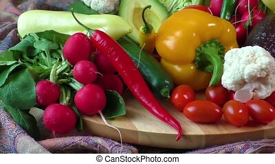 Assorted fresh vegetables - Close up of assorted fresh...
