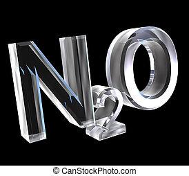 3d chemistry formulas in glass of Nitrous oxide
