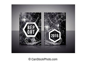 relatório, anual, cobertura, modelo