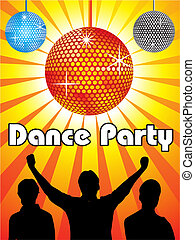 abstract dance party design vector illustration