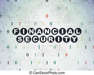 Safety concept: Financial Security on Digital Data Paper background