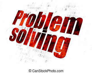 Business concept: Problem Solving on Digital background