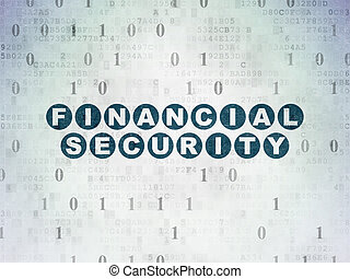 Privacy concept: Financial Security on Digital Data Paper background